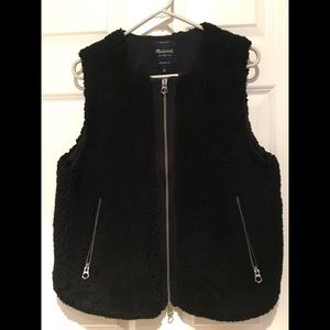 Madewell Faux Sherpa Shearling Vest Sz Large